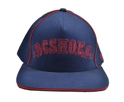 3f9c0cfd50e21 DC Shoes DUMAR Navy Blue Red Embroidered Baseball Cap Discounted Men s Hat