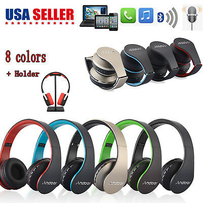 Bluetooth Wireless Headset Stereo Headphone Earphone Handfree Mic For iPhone US
