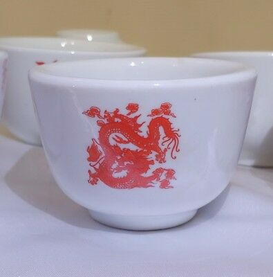 Great Wall Ceramic Chinese Restaurant Tea Cups Lot Of 8