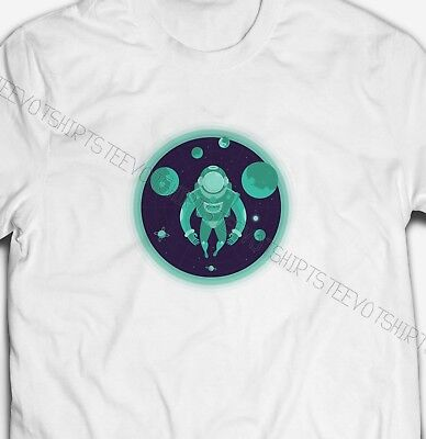 Astronaut In Space  Mens 100% Cotton Planets And Galaxies T-Shirt Tshirt Tee Top