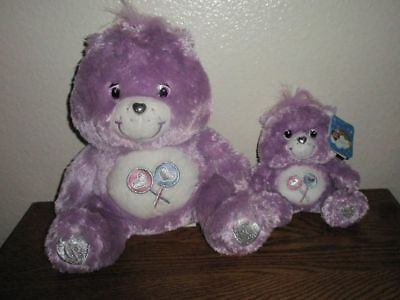 Care Bears Swarovski Crystal Special Collectors Share Bear Set of 2 Small Large
