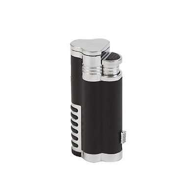 ETERNITY Triple Jet Butane Refillable Windproof Cigarette Cigar Torch Lighter