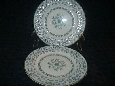 Aynsley Forget Me Not 2 TWO Dinner Plates