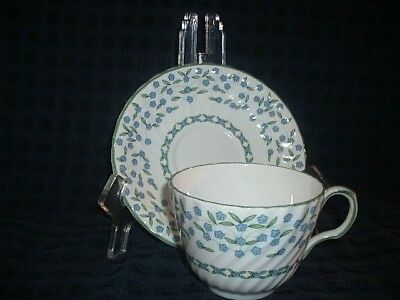 Aynsley Forget Me Not Lovely Pattern Cup & Saucer