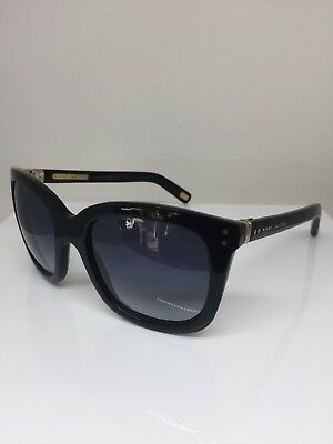 NEW MARC BY MARC JACOBS SUNGLASSES MMJ 384//S 807-JJ BLACK//GRAY AUTHENTIC
