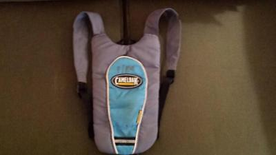 Blue CamelBak Skeeter Gray Reflective Hydration Pack Water Hiking Biking GUC