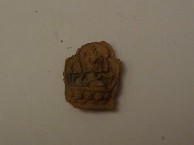Antique  Mongolian Buddhist Clay Tsa Tsa Fragment
