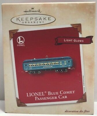 MIB 2002 Hallmark Ornament Lionel Blue Comet Passenger Car