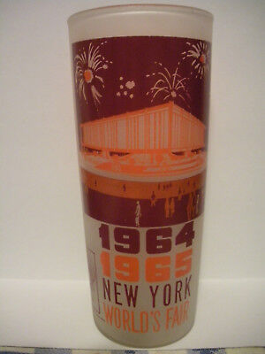 Vintage 1964 1965 New York World's Fair The Federal Pavilion Drinking Glass