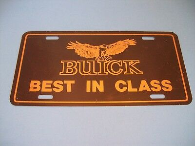 """Buick """"Best in Class"""" License Plate from 1980's"""