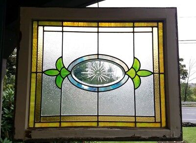 Antique Stained Glass Transom Window, Pocono Mountains, Pa
