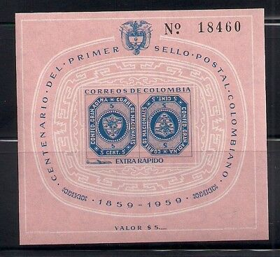 Colombia 1959 Sc # C355 S/S MNH (40707)