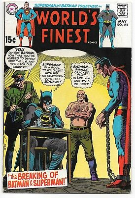 Late Silver age, World's Finest #192 #193 (Mar-May 1970 DC) 2 heroes prisoners