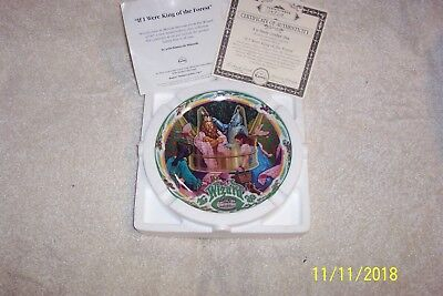 """The Wizard Of Oz """"If I Were the King of the Forest"""" KnowlesMusical Plate New"""
