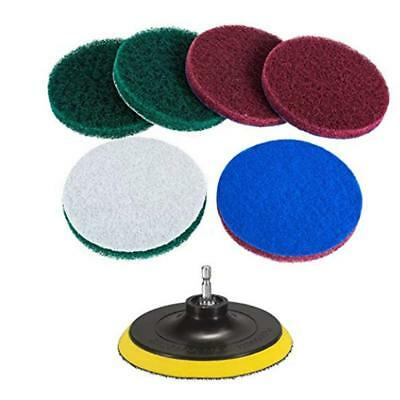 6pcs Drill Brush Power Scrubber Scumbusting Scrub Pad Bathroom Tile Cleaning Kit
