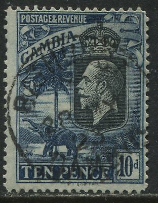 Gambia KGV 1922 10d used