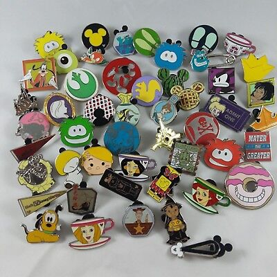 Lot of 50 Disney Trading Pins  NO DUPLICATES.  Tradeable.