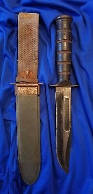 Original Wwii Camillus, Ny Mk2 Usn Navy Fighting Knife With Nord Sheath