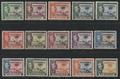 Gambia KGVI 1938 complete set mint o.g.
