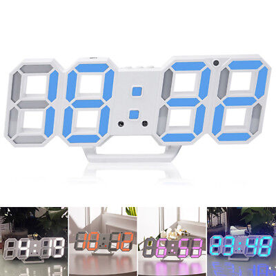 Digital Large LED Wall Clock Alarm Clock Snooze 12/24 Hour Display USB Charge