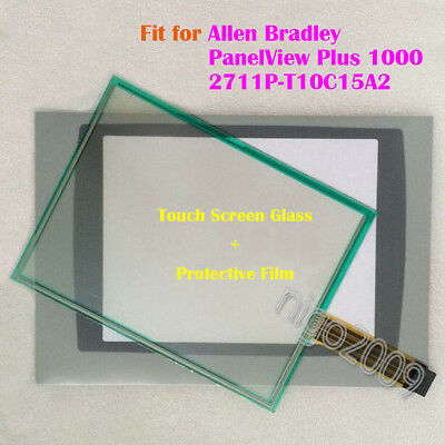 Touch Screen Glass + Film for Allen Bradley PanelView Plus1000 2711P-T10C15A2