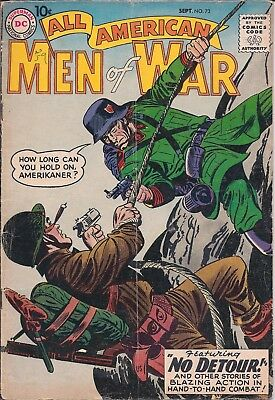 "Dc All American Men Of War #73 Sept 1959""tanks Don't Cry!"" ""nobody Owns A Medal"""