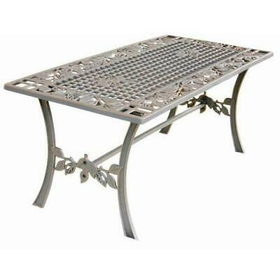 Cast Iron Outdoor Garden Coffee Table - Leaves