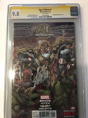 Marvel's Age Of Ultron #1 Signed STAN LEE, CGC 9.8