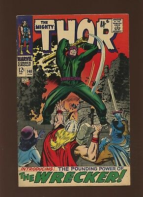 Thor 148 FN 5.5 * 1 Book Lot * Marvel! 1969-71! Mystery! Space! Wrecker!