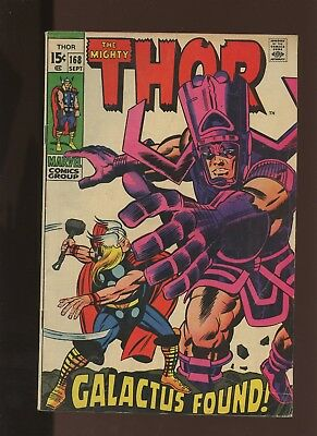 Thor 168 FN 6.0 * 1 Book Lot * Marvel! 1969-71! Mystery! Space! Galactus Found!