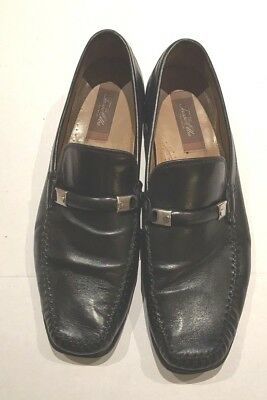 TASSO ELBA Mens Black Slip On Loafers Dress Casual Shoes Size 10.5D