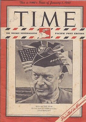 1945 TIme Magazine PACIFIC PONY EDITION Eisenhower Cover