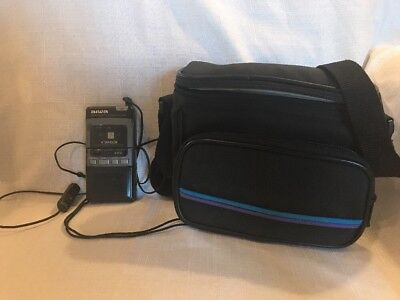 AIWA MICRO CASSETTE RECORDER TP-M700 With Remote Control Mic and Case