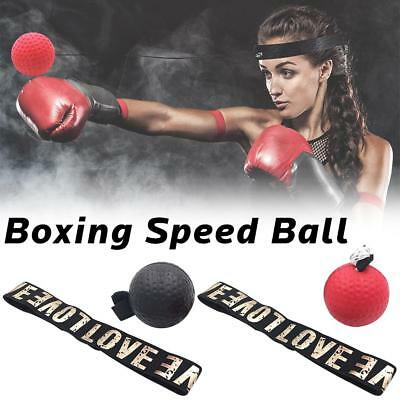 Boxing Fight Ball With Head Band Reflex Reaction Speed Training Muscle Trainer