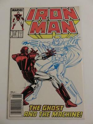 Iron Man #219 Vg+ 1St Ghost From Ant-Man And Wasp Movie
