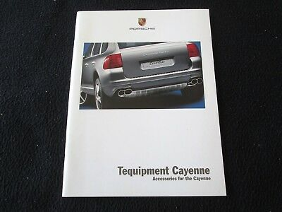 2004 Porsche Cayenne S & Turbo Tequipment Brochure Accessory Catalog Wheels Wood