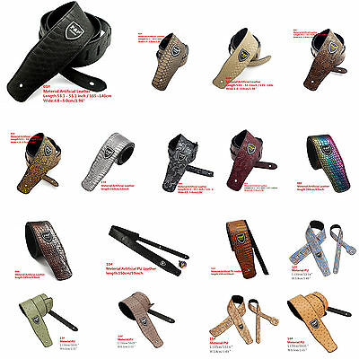 Various Adjustable Guitar Wide Strap Leather Embossed Snake Acoustic Guitar Bass