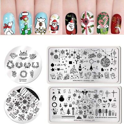 BORN PRETTY Nail Art Pochoir Stamping Template Plaque Ongle Image Acier Stamp