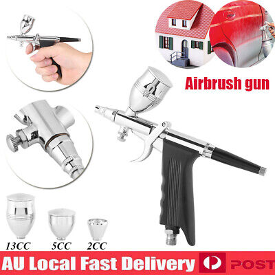 Airbrush Spray Gun Dual Action Air Brush Craft Tattoo Hose Kit Set 0.3/0.5/0.8mm