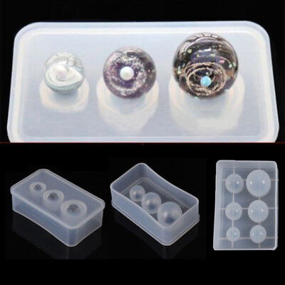 Round Sphere Ball Silicone Mold Mould Pendant Jewelry Making UV Resin Craft DIY