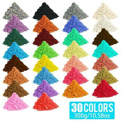 30-Color 300g Metallic Effect Natural Mica Pigment Powder Value Pack 10g/packet