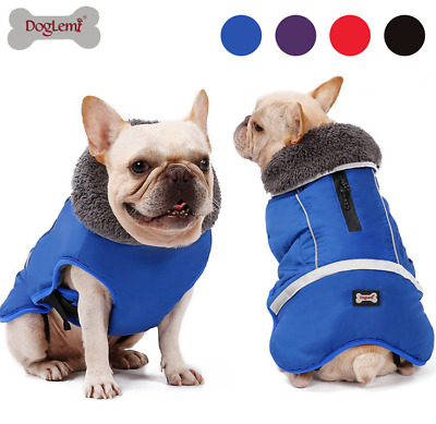 Reflective Dog Jacket Waterproof Pet Clothes Warm Windbreaker Vest Coat Winter