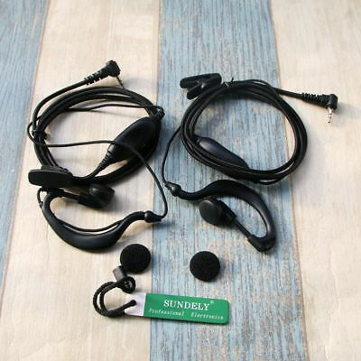 2x Clip Ear Headset/Earpiece Mic For Garmin Radio GPS Rino  MT750, MT800,  MT200
