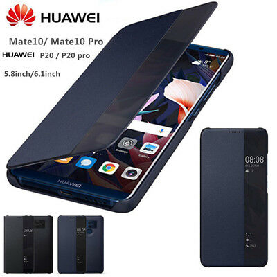 Genuine Leather Case FOR Huawei P30 P20 Pro Phone Smart Flip View Stand Cover