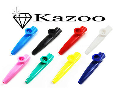 5pcs Musical Instrument Kazoo plastic Harmonica Mouth Flute Kids Party Gift