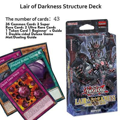 Yu-Gi-Oh TCG - Lair Of Darkness Structure Deck Yugioh Shadow 43pcs/set