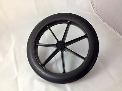 Black 315mm Rear Wheel & Tyre for NHS Style Wheelchair 12 1/2""