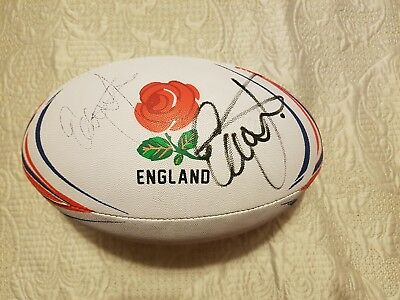 England rugby ball signed by coach Eddie Jones: autism/c palsy charity sale