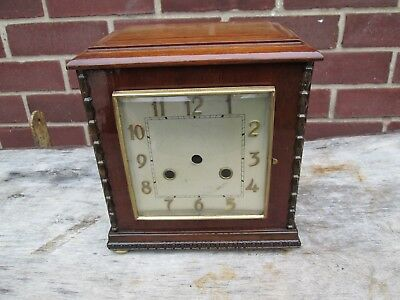 A Quality Striking Mantel Clock Case With Bezel Convex Glass And Coiled Gong