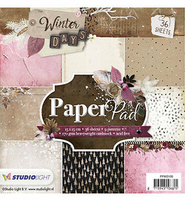 Paper-pad Papier-block Weihnacht Winter Days Christmas Xmas Studiolight PPWD100
